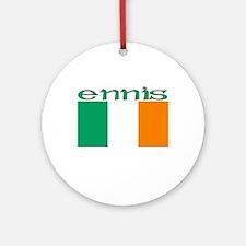 Ennis, Ireland Flag Ornament (Round)