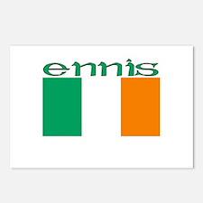 Ennis, Ireland Flag Postcards (Package of 8)