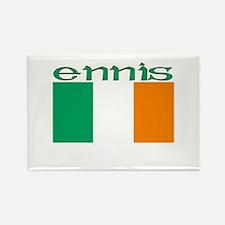 Ennis, Ireland Flag Rectangle Magnet