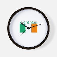 Ennis, Ireland Flag Wall Clock