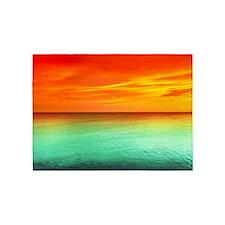 Ocean Sunset 5'X7'Area 5'X7'Area Rug