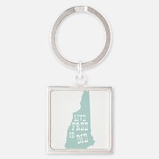 New Hampshire Square Keychain