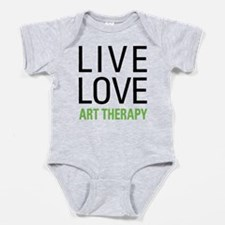 Live Love Art Therapy Baby Bodysuit