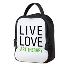 Live Love Art Therapy Neoprene Lunch Bag