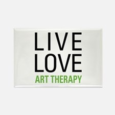 Live Love Art Therapy Rectangle Magnet