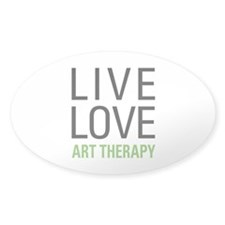 Live Love Art Therapy Decal