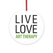Live Love Art Therapy Ornament (Round)