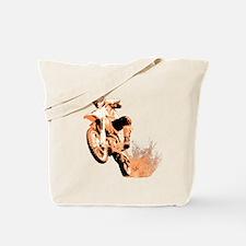 Orange dirtbike Tote Bag