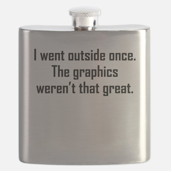 I Went Outside Once Flask