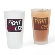 Fight Throat Cancer Drinking Glass