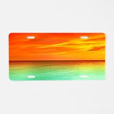 Ocean Sunset Aluminum License Plate