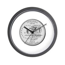 Indiana State Quarter Wall Clock