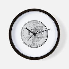 Indiana State Quarter Wall Clock