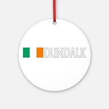 Dundalk, Ireland Flag (Dark) Ornament (Round)