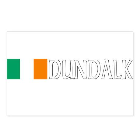 Dundalk, Ireland Flag (Dark) Postcards (Package of