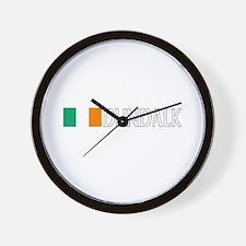 Dundalk, Ireland Flag (Dark) Wall Clock