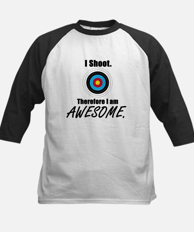 I Shoot Therefore Im Awesome Baseball Jersey
