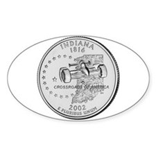 Indiana State Quarter Oval Decal