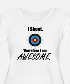 I Shoot Therefore Im Awesome Plus Size T-Shirt