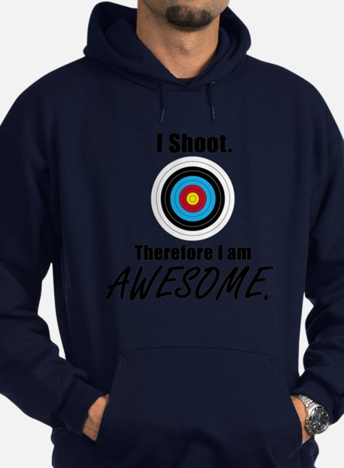I Shoot Therefore Im Awesome Hoodie (Dark)