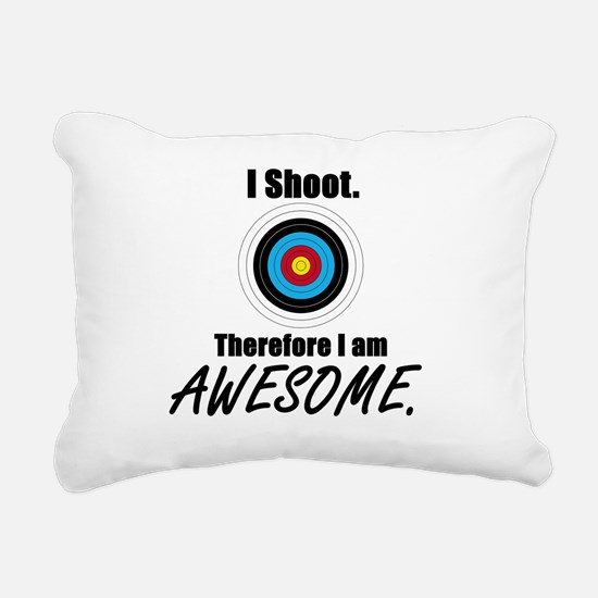 I Shoot Therefore Im Awesome Rectangular Canvas Pi
