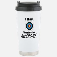 I Shoot Therefore Im Stainless Steel Travel Mug