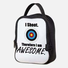 I Shoot Therefore Im Awesome Neoprene Lunch Bag