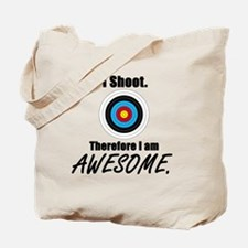 I Shoot Therefore Im Awesome Tote Bag
