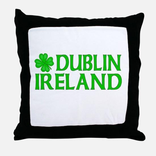 Dublin, Ireland Shamrock Throw Pillow