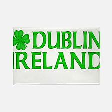Dublin, Ireland Shamrock Rectangle Magnet