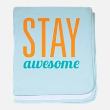 Stay Awesome baby blanket
