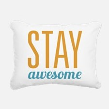 Stay Awesome Rectangular Canvas Pillow