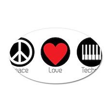 PEACE LOVE TECHNO 6 Wall Decal