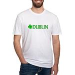 Dublin, Ireland Shamrock (Lig Fitted T-Shirt