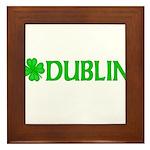 Dublin, Ireland Shamrock (Lig Framed Tile
