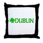 Dublin, Ireland Shamrock (Lig Throw Pillow