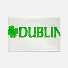 Dublin, Ireland Shamrock (Lig Rectangle Magnet
