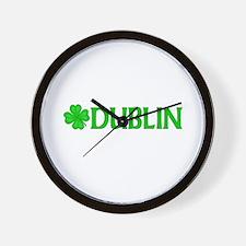 Dublin, Ireland Shamrock (Lig Wall Clock