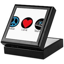 PEACE LOVE TECHNO 2 Keepsake Box