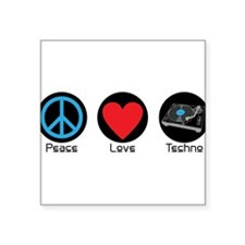 PEACE LOVE TECHNO 2 Sticker