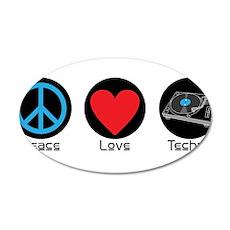 PEACE LOVE TECHNO 2 Wall Decal
