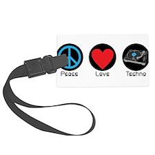 PEACE LOVE TECHNO 2 Luggage Tag
