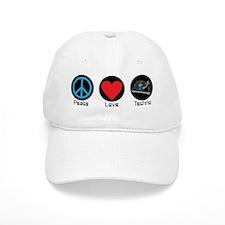PEACE LOVE TECHNO 2 Baseball Baseball Cap