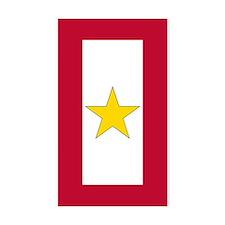 Gold Star Flag Sticker (Rectangle 10 Pk)