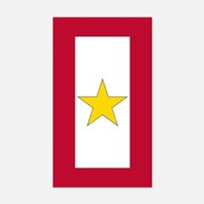 Gold Star Flag Sticker (Rectangle 10 Pk)