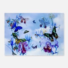 Take Flight Butterfly Orchid Art 5'X7'Area Rug