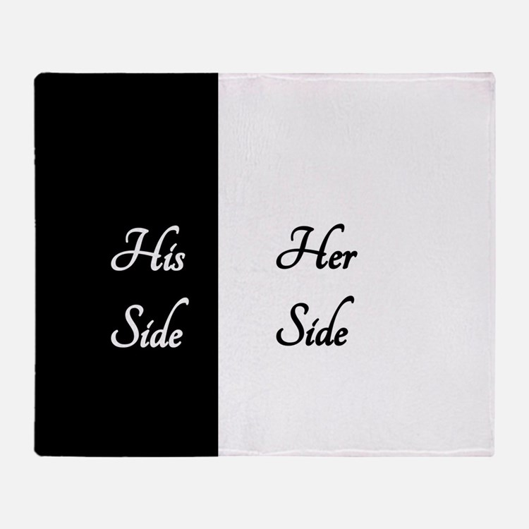 Her Side_1_His Side Throw Blanket