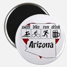 Arizona Swim Bike Run Drink Magnet