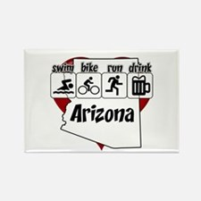 Arizona Swim Bike Run Drink Rectangle Magnet
