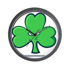 Angry Clover Wall Clock